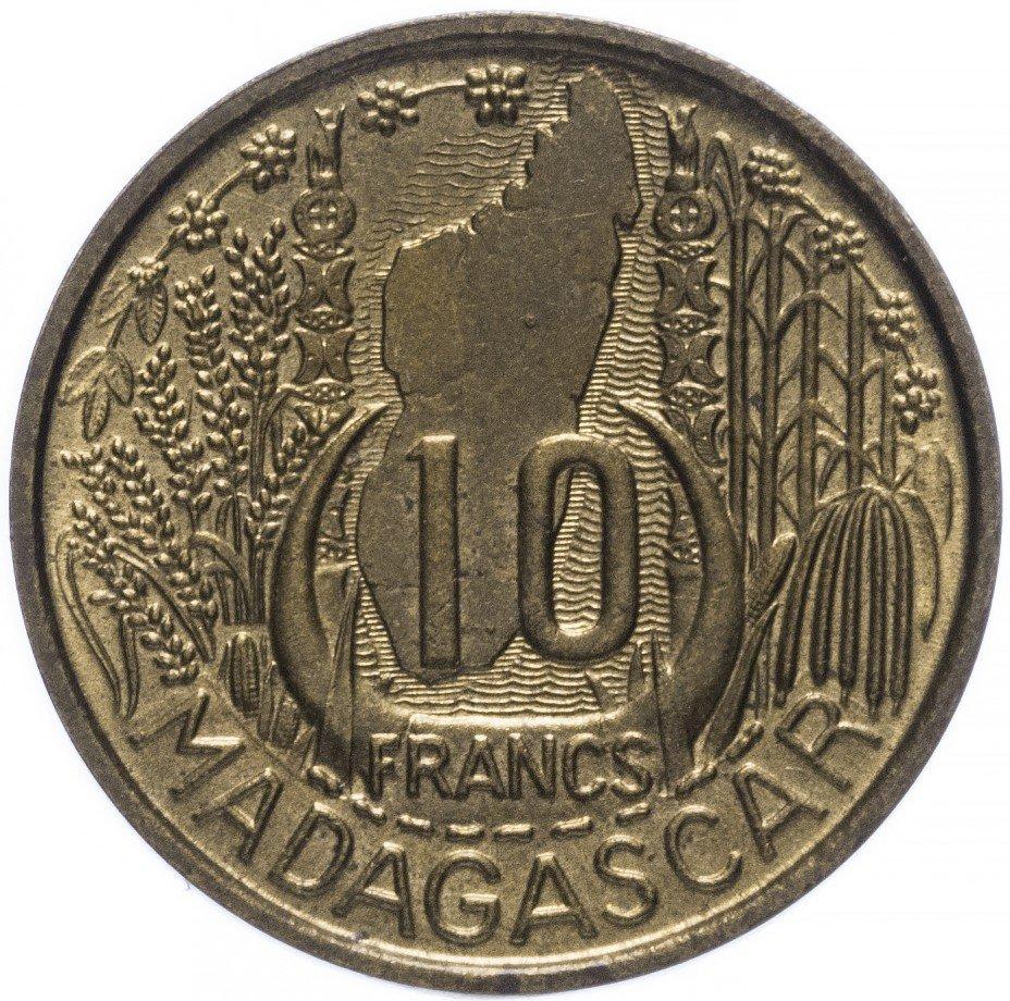 купить Мадагаскар 10 франков 1953