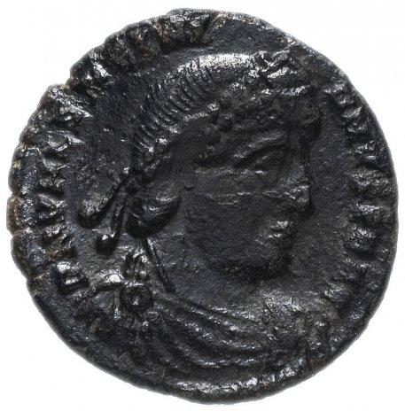 купить Римская Империя Валентиниан I 364-375 гг фракция фоллиса (реверс: Виктория идет влево, в руках - венок и пальмовая ветвь)