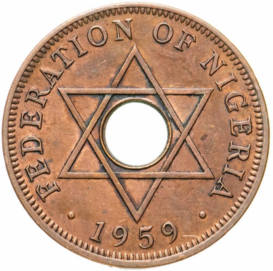 купить Британская Нигерия 1 пенни (penny) 1959