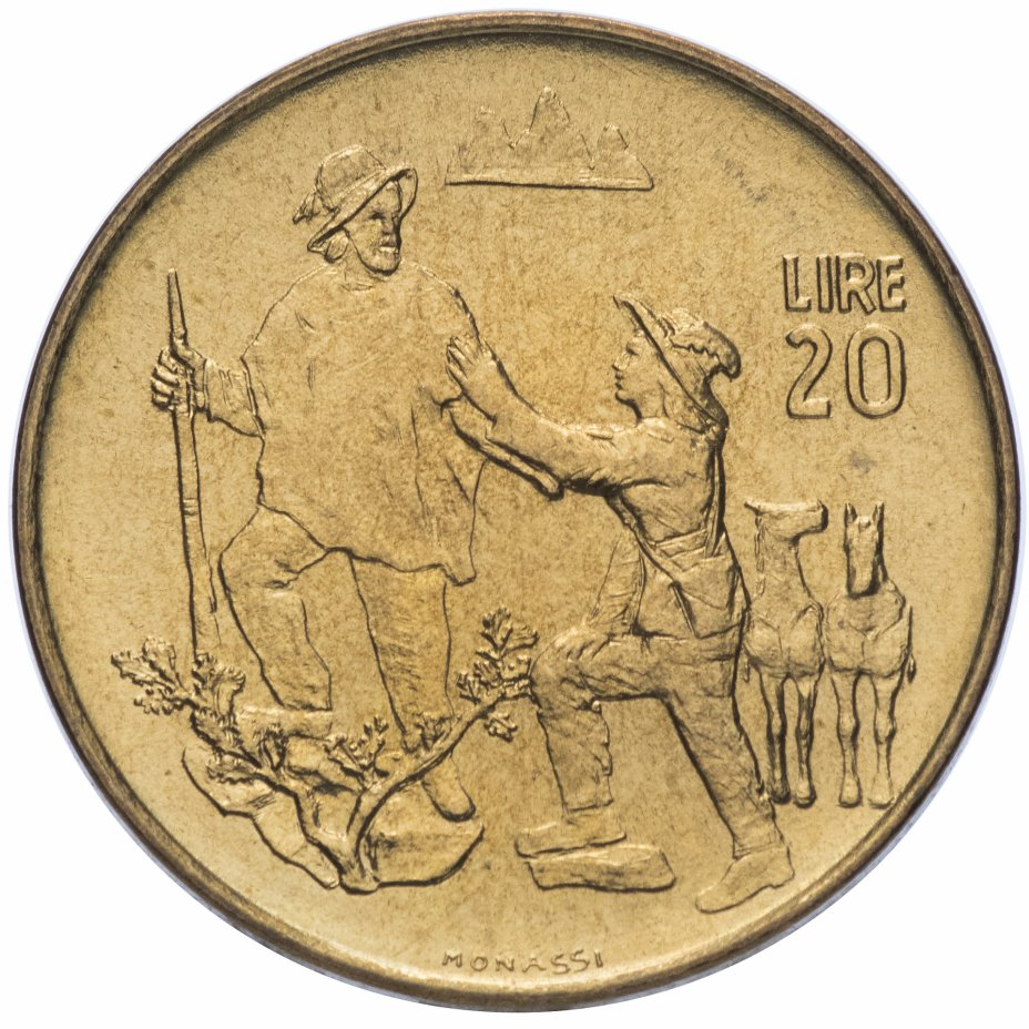 купить Сан-Марино 20 лир 1972