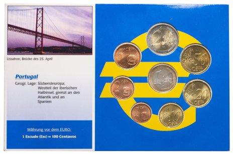 купить Португалия годовой набор из 8 монет евро 1999 в буклете