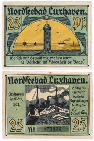 купить Германия (Гамбург: Куксхафен) 50 пфеннигов 1921 (249.1/B1)