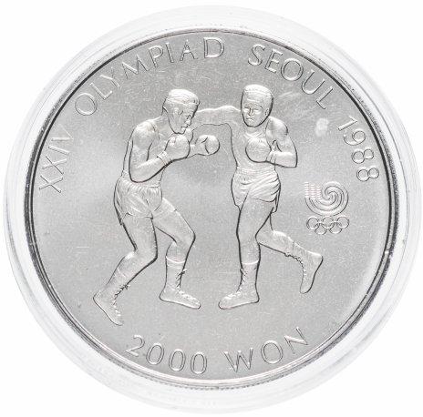 """купить Южная Корея 2000 вон 1986 """"XXIV летние Олимпийские Игры, Сеул 1988 - Бокс"""""""