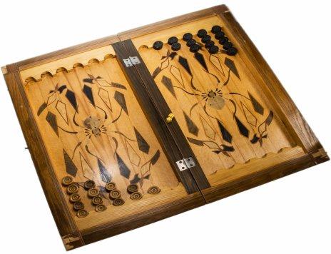купить Набор для игры в нарды ручной работы, дерево, СССР, 1960-1990 гг.