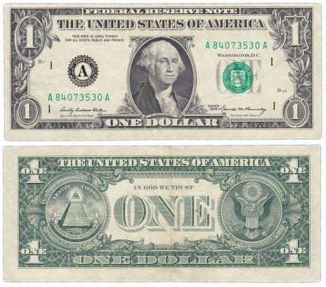 купить США 1 доллар 1969 (Pick 449a) A-Бостон