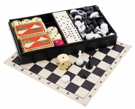 купить Набор дорожный для игр в оригинальной коробке, пластик, СССР, 1970-1990 гг.