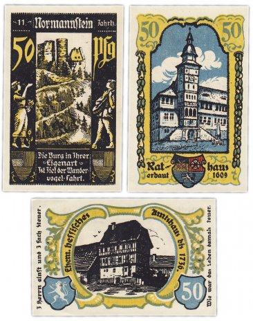 купить Германия (Норманштейн) набор из 3-х нотгельдов 1921
