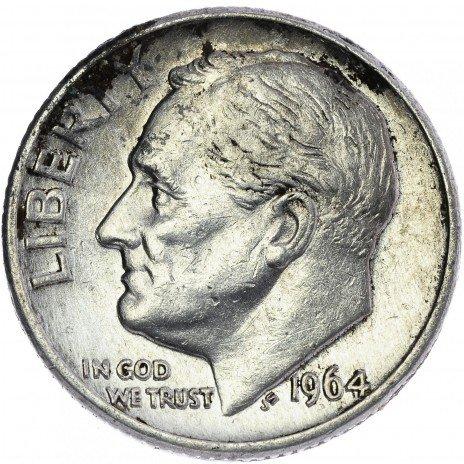 купить США 1 дайм 1964