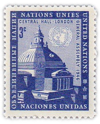 """купить США 3 цента 1957 """"Офис ООН в Лондоне"""""""