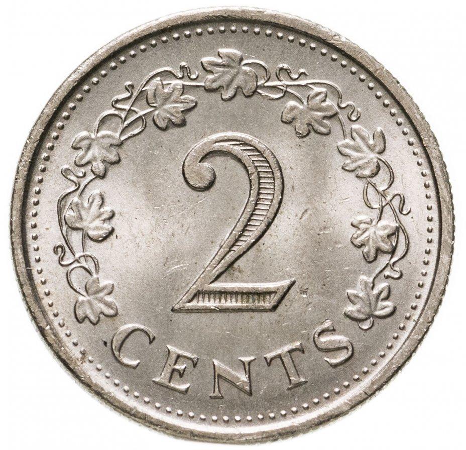купить Мальта 2 цента (cents) 1977