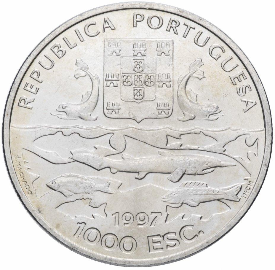 """купить Португалия 1000 эскудо (escudos) 1997 """"100 лет океанографическим экспедициям"""""""