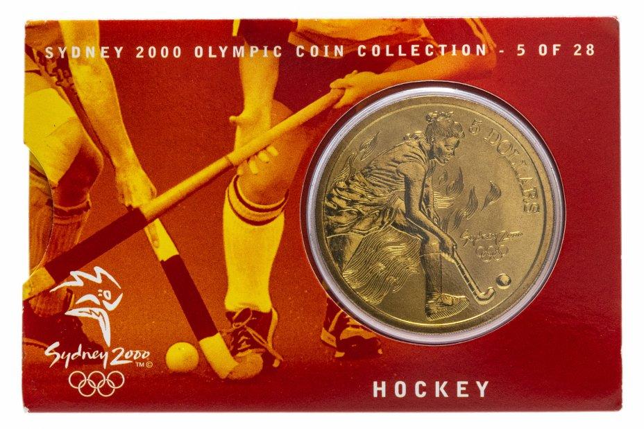 купить Австралия 5 долларов (dollars) 2000 Олимпийские игры в Сиднее - Хоккей на траве