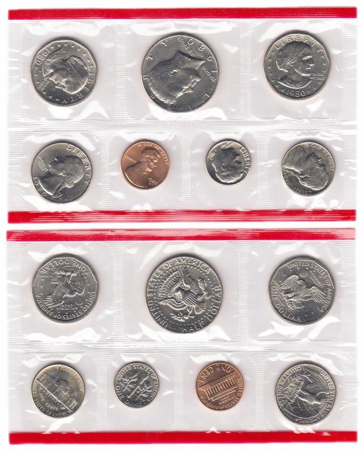 купить США годовой набор 1980 D (7 монет)