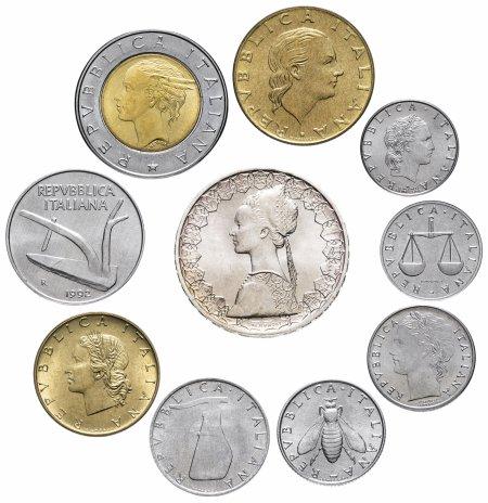 купить Италия набор из 10 монет 1992