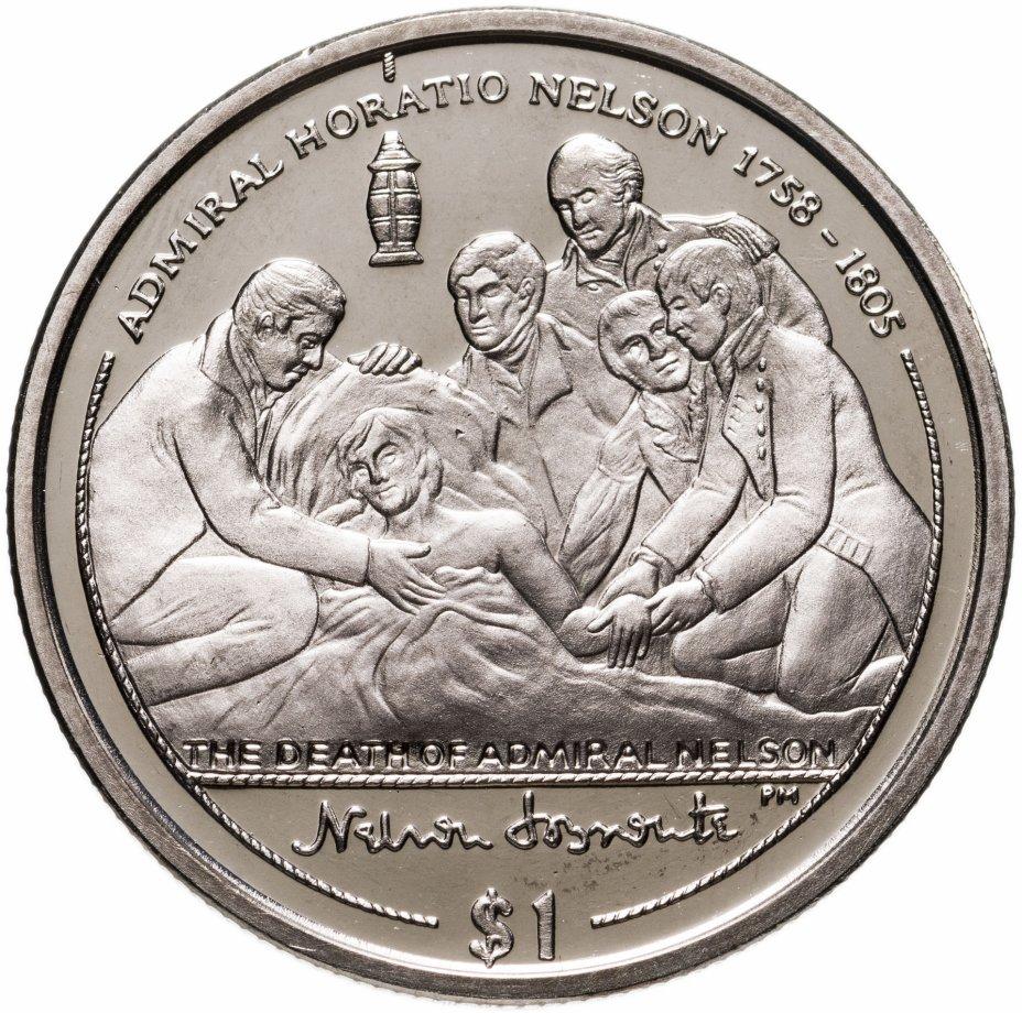 """купить Британские Виргинские острова 1 доллар (dollar) 2005 """"Смерть Нельсона"""""""