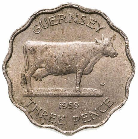 купить Остров Гернси 3 пенса (pence) 1959