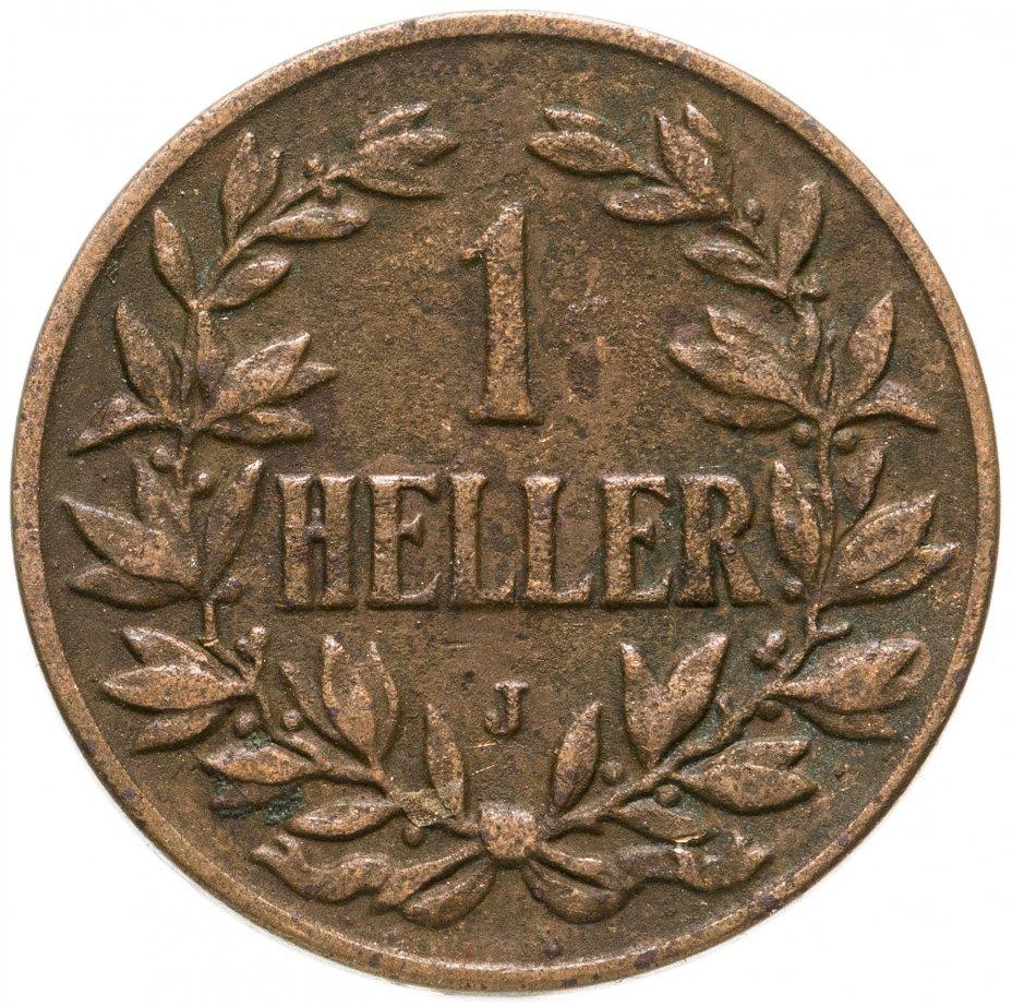 """купить Германская Восточная Африка 1 геллер 1908 """"J"""""""