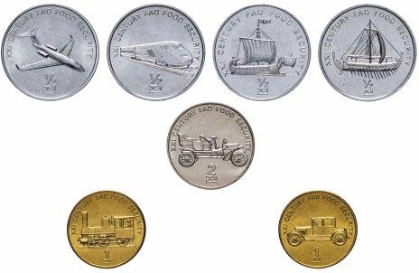 """купить Северная Корея (КНДР) набор монет 2002 """"Средства транспорта"""" (7 штук)"""