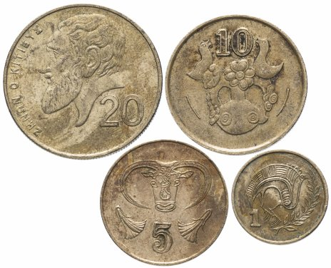 купить Кипр 1, 5, 10 и 20 центов 1985-2004