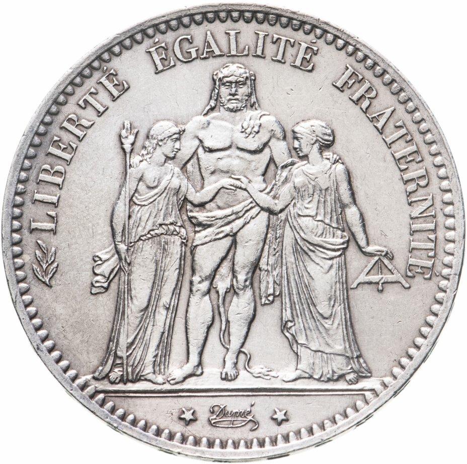 купить Франция 5 франков 1877