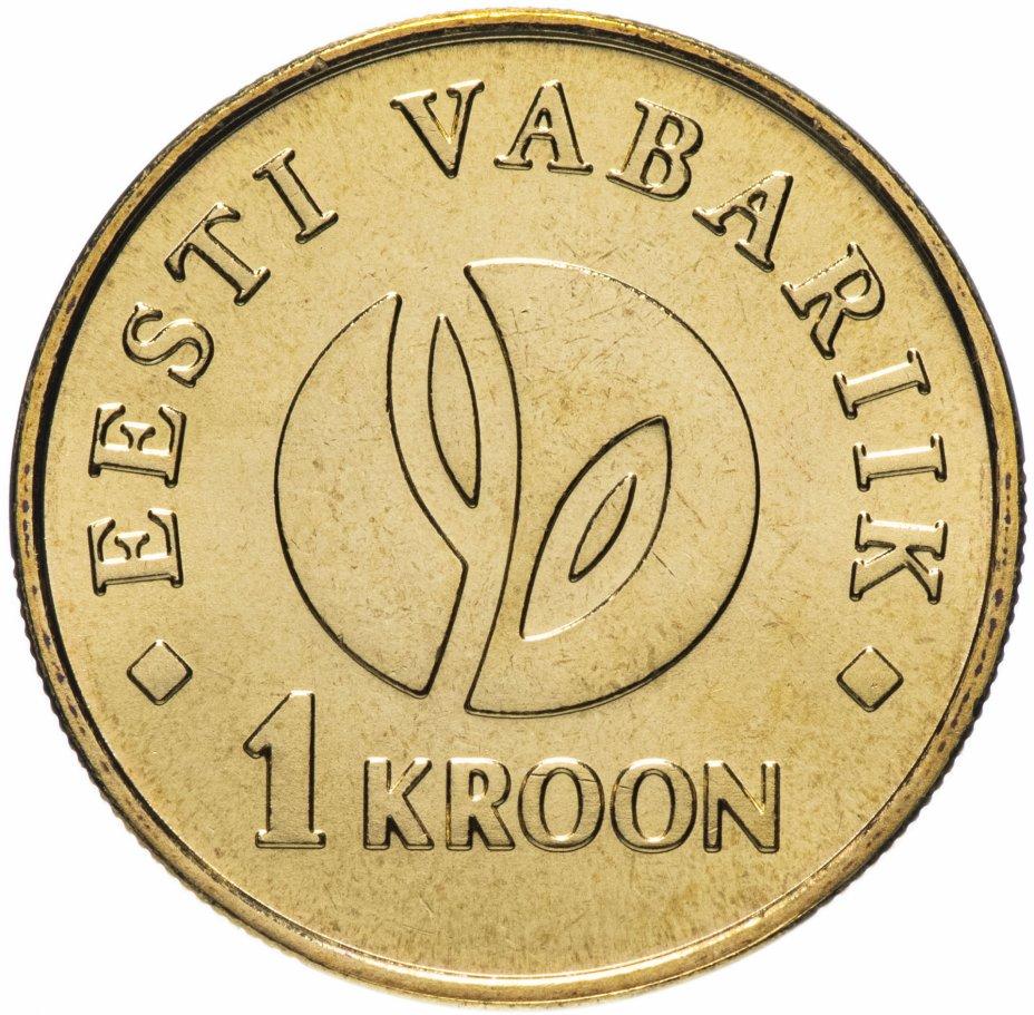 """купить Эстония 1 крона 2008 """"90 лет банку"""""""