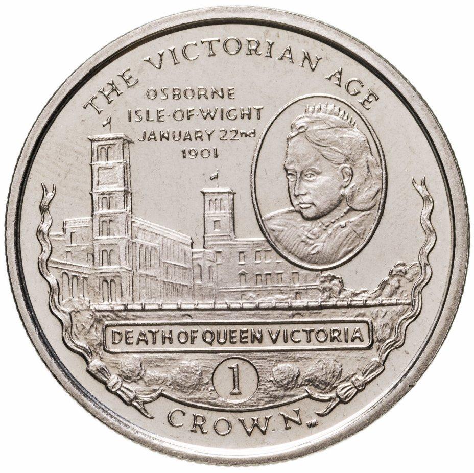 """купить Гибралтар 1 крона 2001 """"Викторианский век - Смерть королевы Виктории 22 января 1901"""""""