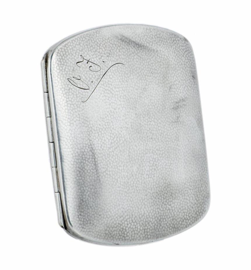 купить Портсигар изящной формы с закругленными краями, серебро 800 пр., золочение, Германия, 1920-1940 гг.