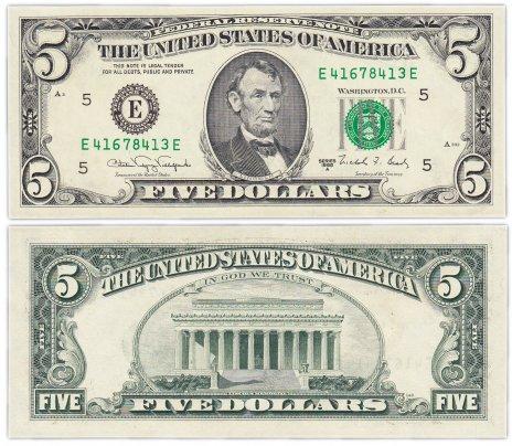 купить США 5 долларов 1988А (Pick 481b) Е-Вирджиния