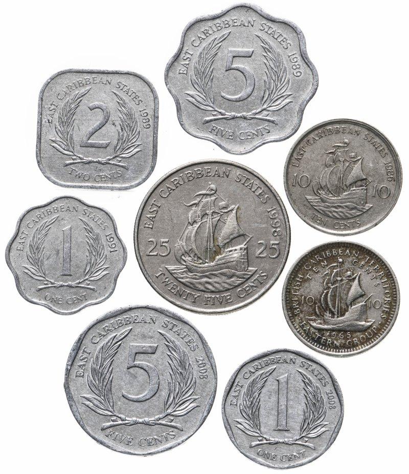 купить Восточные Карибы набор из 8 монет 1965-2008