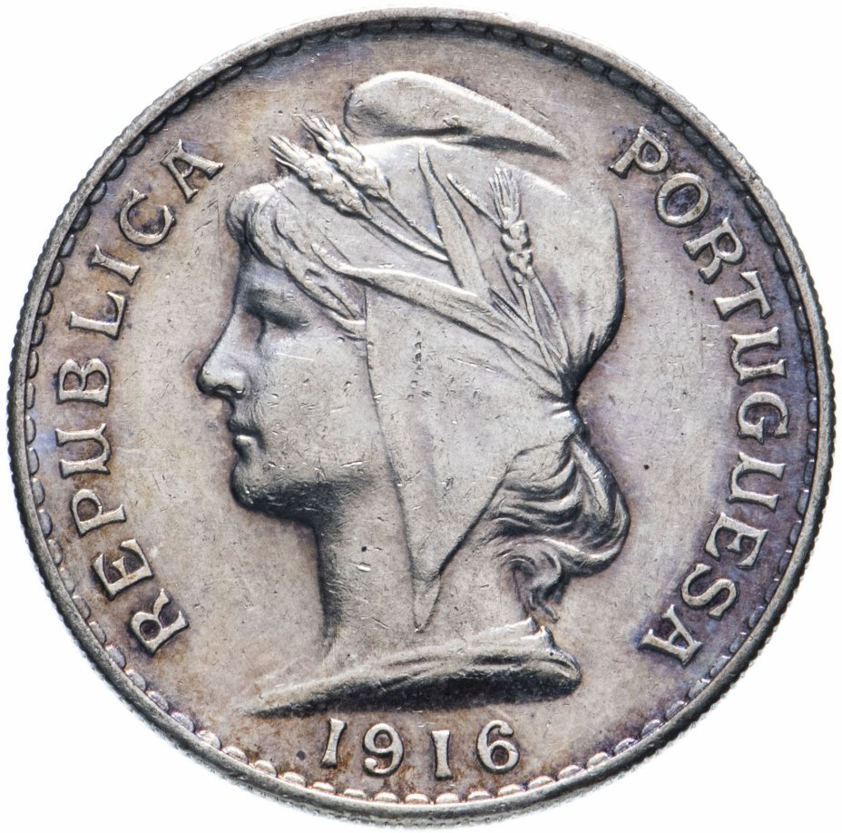 купить Португалия 50 сентаво 1916
