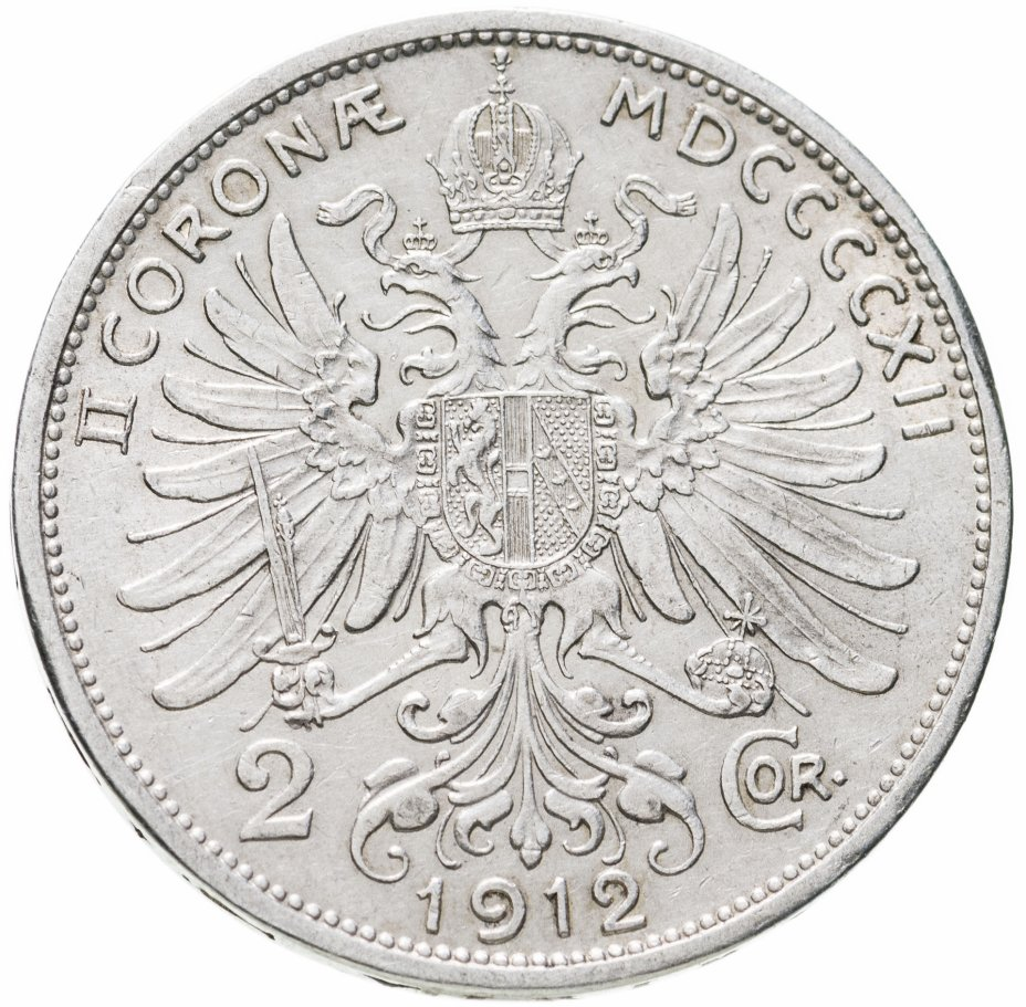 купить Австрия 2 кроны (corona) 1912