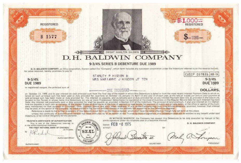купить Акция США D.H. BALDWIN COMPANY  1975г.