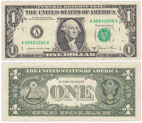 купить США 1 доллар 1981A (Pick 468b) A-Бостон