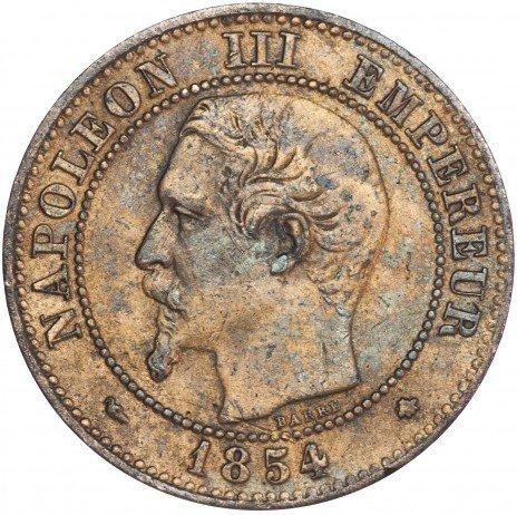 купить Франция 2 сантима 1854