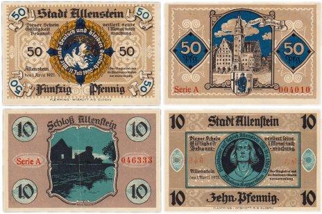 купить Германия (Западная Пруссия: Алленштейн) набор из 2-х нотгельдов 1921