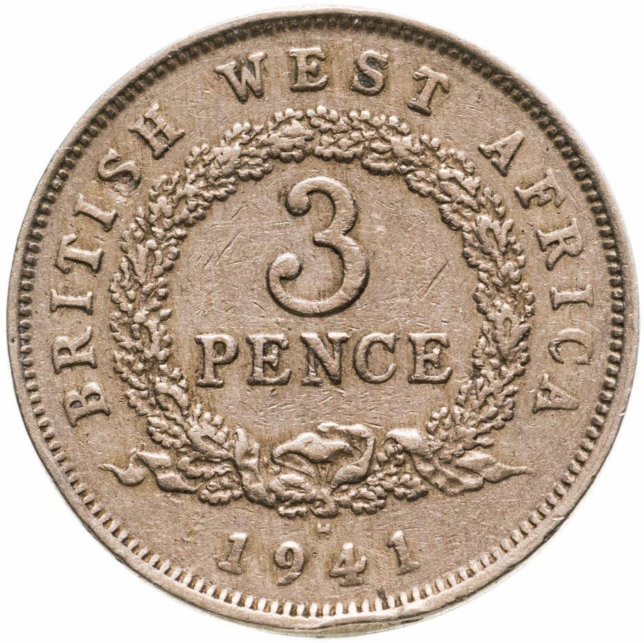 """купить Британская Западная Африка 3 пенса 1941 H, Знак монетного двора: """"H"""" - Хитон, Бирмингем"""