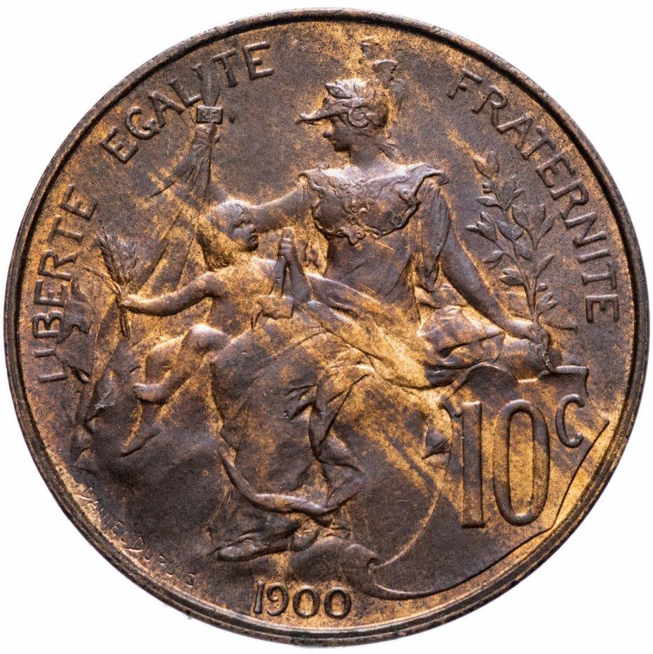 купить Франция 10сантимов (centimes) 1900