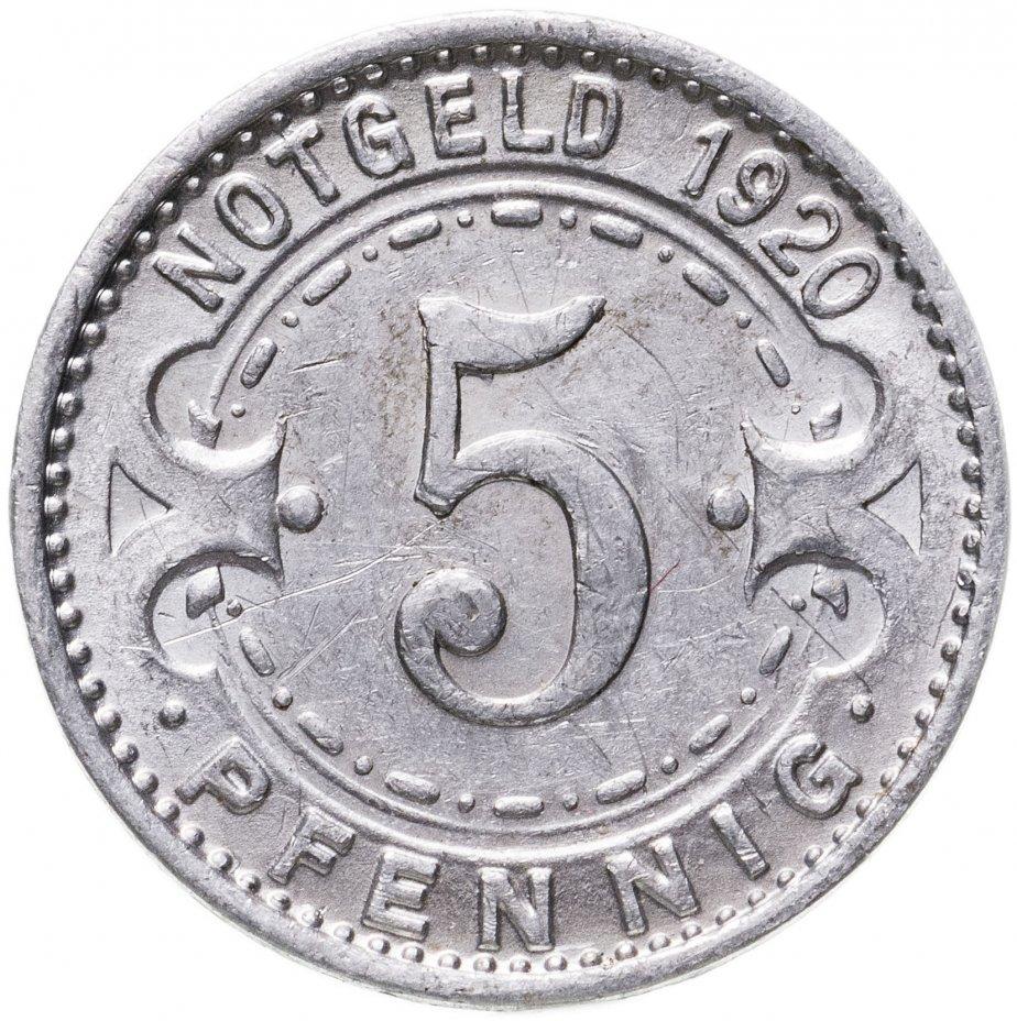 купить Германия (Виттен) нотгельд  5 пфеннигов 1920