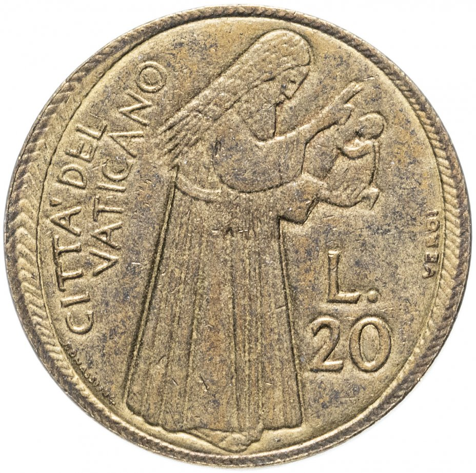 "купить Ватикан 20лир (lire) 1975 ""Лето Господне"""