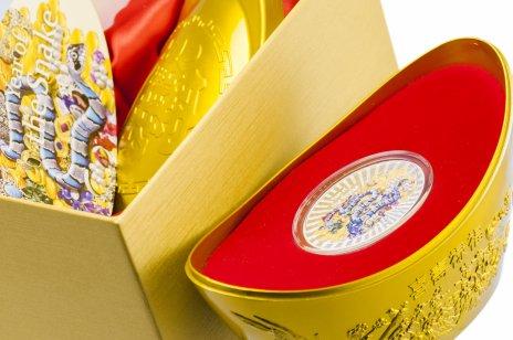 """купить Остров Ниуэ 2 доллара 2013 """"Год змеи"""" в капсуле и подарочном футляре с сертификатом"""