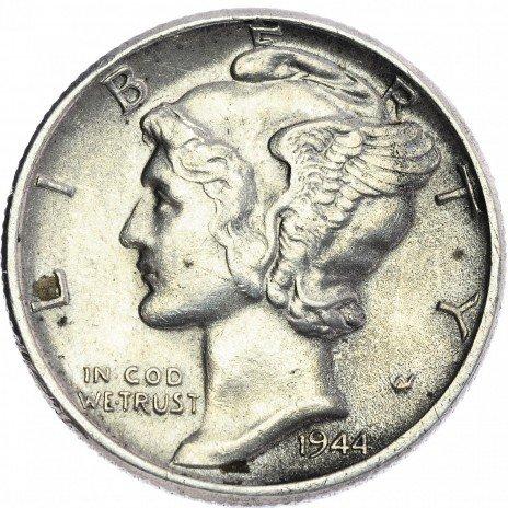 купить США 1 дайм 1944
