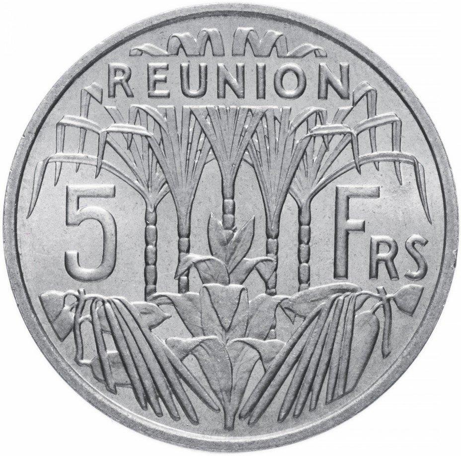 купить Реюньон (заморский регион Франции) 5 франков 1955
