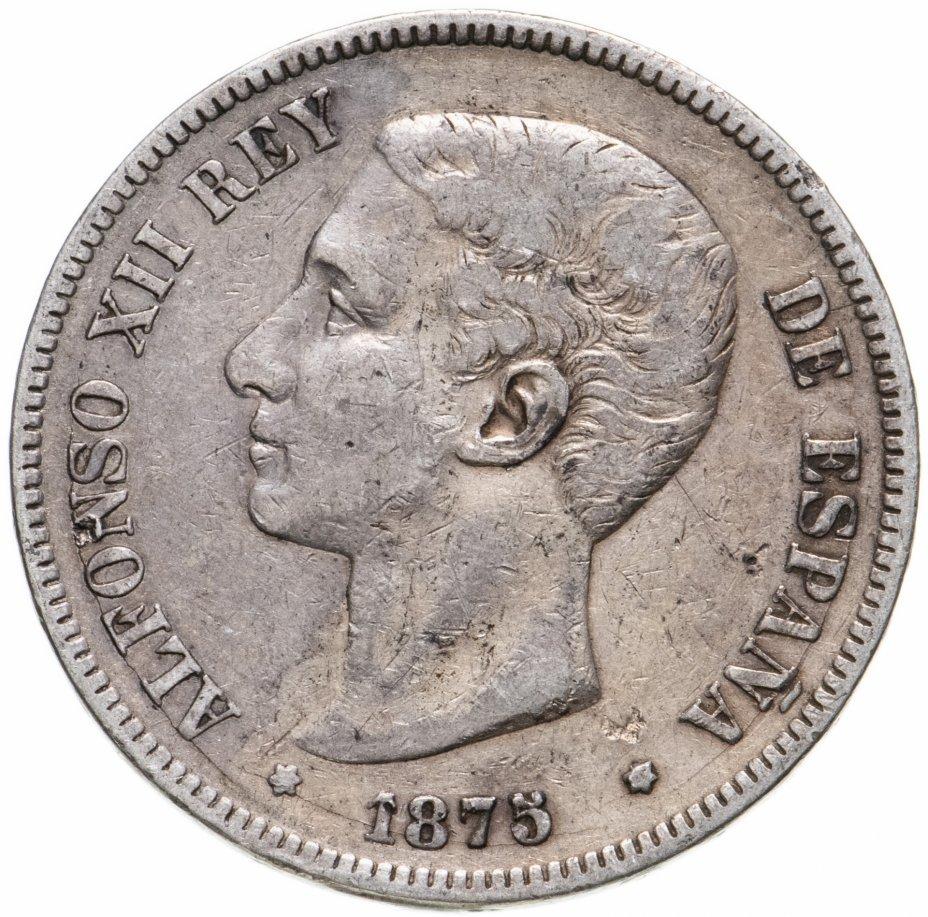 купить Испания 5 песет 1875