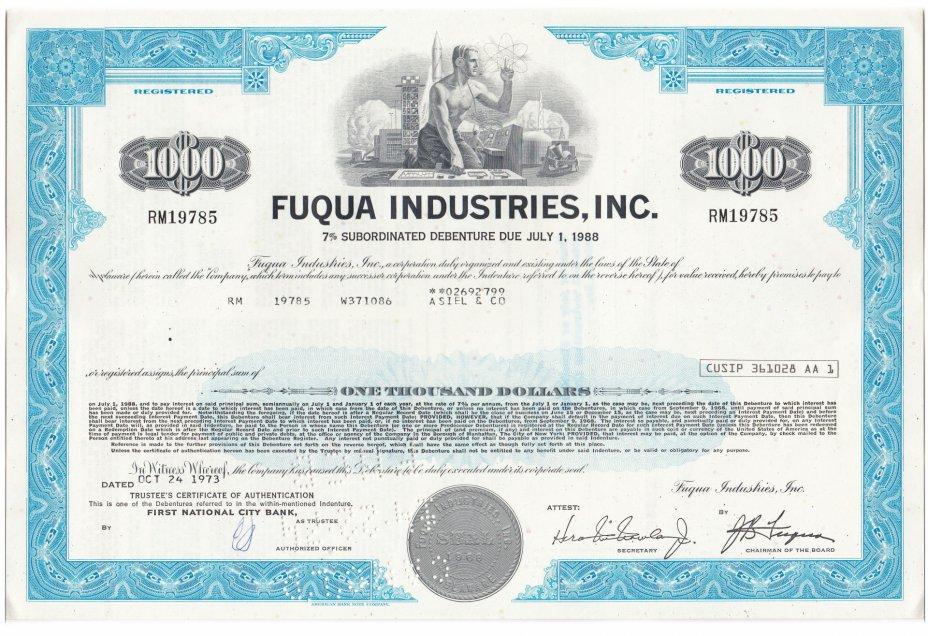 купить Акция FUQUA INDUSTRIES, INC. 1973 г.