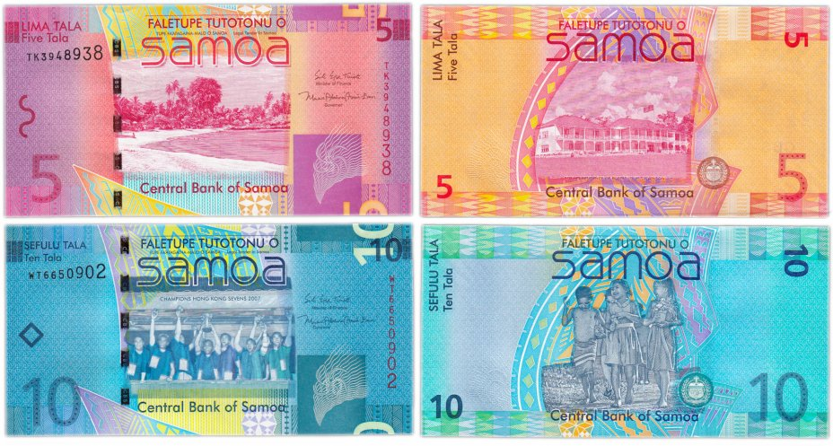 купить Самоа - набор 5, 10 тала 2017 года