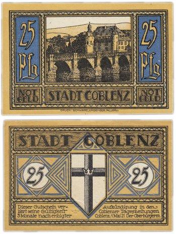 """купить Германия (Рейнская провинция: Кобленц) 25 пфеннигов 1921 (233.1/B1) """"Мост через реку Мозел"""""""