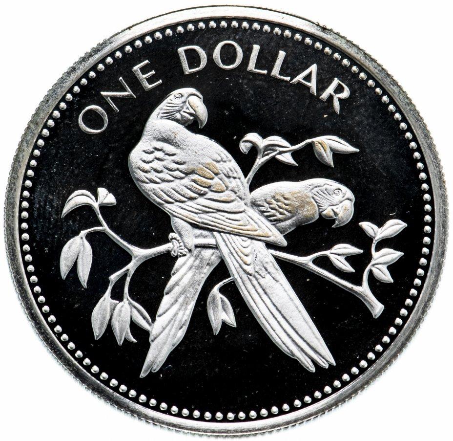 """купить Белиз 1 доллар (dollar) 1974 """"Красный ара"""""""
