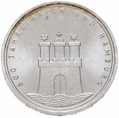 купить Германия 10марок 1989   800 лет Гамбургскому порту