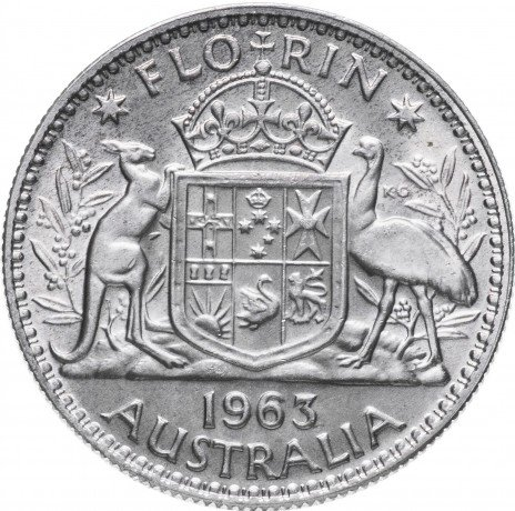 купить Австралия 1 флорин 1963
