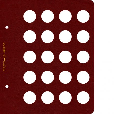 купить Лист для альбома  AlboNumismatico, диаметром 25.7 мм (20 ячеек)
